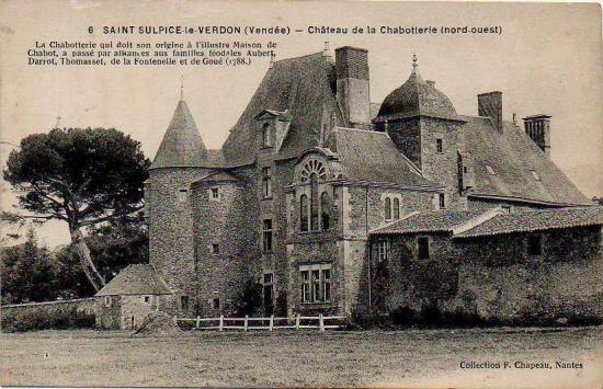 St-Sulpice-le-Verdon, château de la Chabotterie.