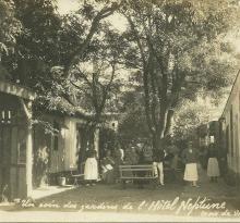 Croix-de-Vie, un coin des jardins, hôtel Neptune.