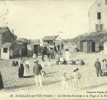 St-Gilles-sur-Vie, le chemin d'accès à la plage.