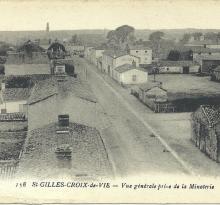 St-Gilles-Croix-de-Vie, vue générale prise de la minoterie.