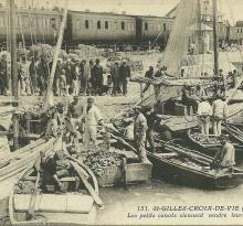 St-Gilles-Croix-de-Vie, vente de la sardine.
