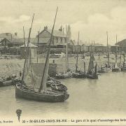 St-Gilles-Croix-de-Vie, la gare et le quai d'accostage.