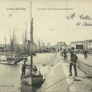Croix-de-Vie, l'arrivée des bateaux sardiniers.