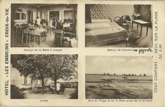 Croix-de-Vie, hôtel Les Embruns.