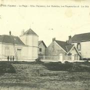 Croix-de-Vie, la plage et les villas.