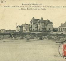 Croix-de-Vie, les villas sur la corniche.