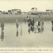 St-Gilles-sur-Vie, la plage à marée basse.