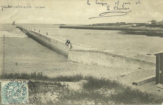 St-Gilles-Croix-de-Vie, la jetée.