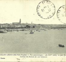 St-Gilles-Croix-de-Vie, vue panoramique au 14ème siècle.