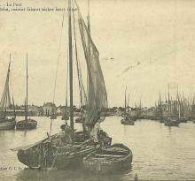 Croix-de-Vie, le port, chaloupes de pêche.