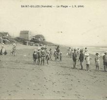 St-Gilles-Croix-de-Vie, la plage.