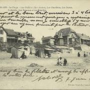 St-Gilles-sur-Vie, la plage et les chalets.