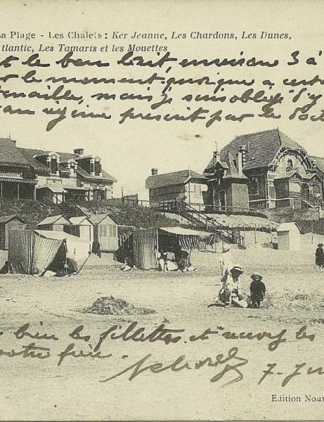 La plage de St-Gilles-sur-Vie et la jetée.