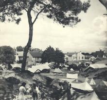 St-Gilles-sur-Vie, camping dans les pins.