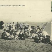 St-Gilles-sur-Vie, un coin de la plage.