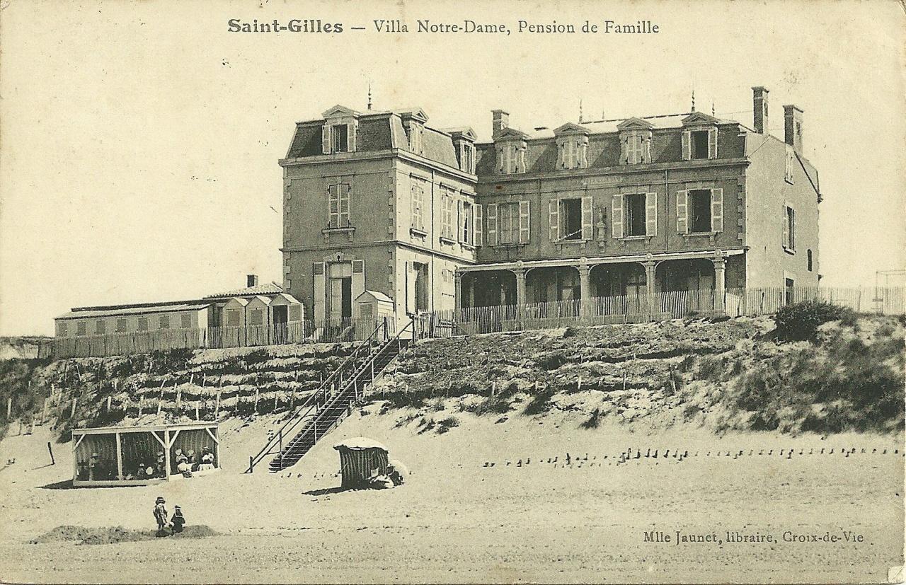 St-Gilles-sur-Vie, villa Notre-Dame, pension de famille.