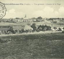 St-Gilles-sur-Vie, vue générale, chemin de la plage.