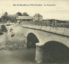 St-Gilles-sur-Vie, la passerelle.