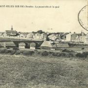 St-Gilles-sur-Vie, la passerelle et le quai.