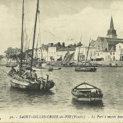 St-Gilles-sur-Vie, le port à marée haute.