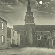 St-Gilles-sur-Vie, l'église et la place du marché.