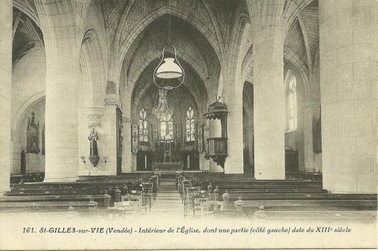 St-Gilles-sur-Vie, intérieur de l'église.