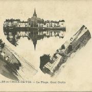 St-Gilles et Croix-de-Vie, la plage et le quai Gorin.