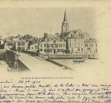 Le pont de St-Gilles-Croix-de-Vie.