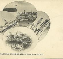 St-Gilles-sur-Vie, deux vues du port.