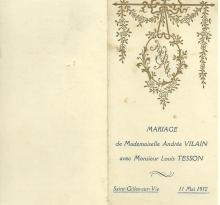 Mariage andree et louis tesson