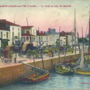 Saint-Gilles-sur-Vie, le quai, un jour de marché.