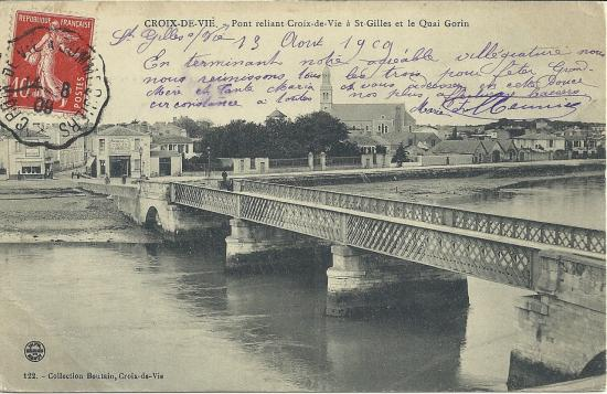 Croix-de-Vie, pont reliant Saint-Gilles à Croix-de-Vie.