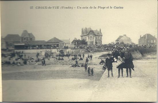 Croix-de-Vie, un coin de la plage et du casino.