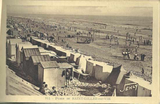 La plage de St-Gilles-sur-Vie.