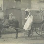 Saint-Gilles-sur-Vie, chariot de livraison Félix Potin