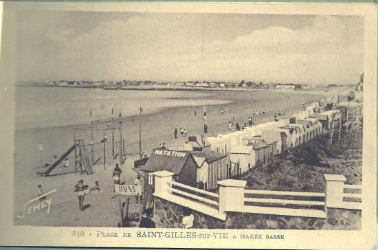 La plage de St-Gilles-sur-Vie à marée basse.