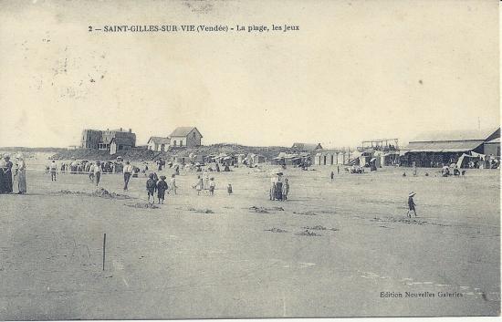 St-Gilles-sur-Vie, la plage, les jeux.