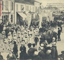 St-Gilles-Croix-de-Vie, fête de Jeanne d'Arc en 1909.