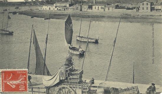 St-Gilles-sur-Vie, panorama de la rivière.