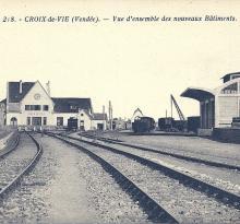 Croix-de-Vie, la gare vue d'ensemble des nouveaux bâtiments.