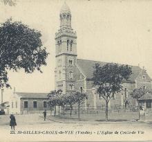 St-Gilles-Croix-de-Vie, l'église.