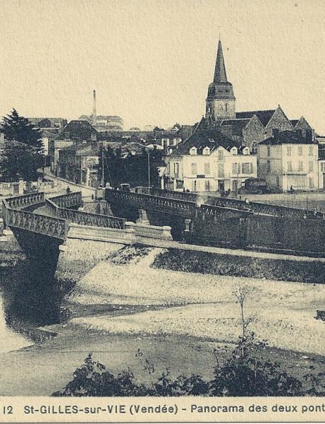 Le pont de Saint-Gilles et Croix-de-Vie