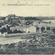 St-Gilles-sur-Vie, un groupe de chalets.