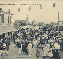 Croix-de-Vie, le quai le jour de la fête locale.