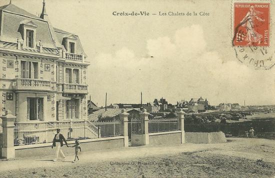"""Croix-de-Vie, les chalets de la côte, villa Les Marguerites""""."""