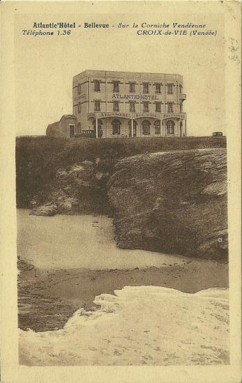Croix-de-Vie, Atlantic-Hôtel-Bellevue.