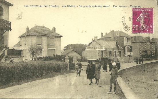 Croix-de-Vie, les chalets Kevel, Ker yvonne et Esperanto.
