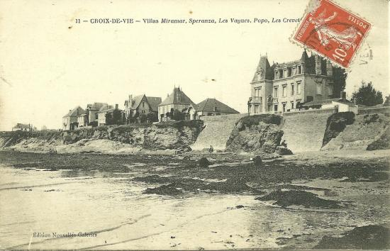 Croix-de-Vie, villas Miramar, Speranza, Les Vagues.