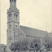Croix-de-Vie, la place de l'église.