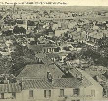 panorama de St-Gilles-Croix-de-Vie.